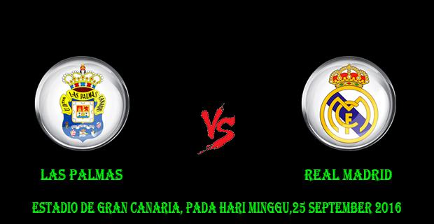Prediksi Skor Las Palmas vs Real Madrid 25 September 2016