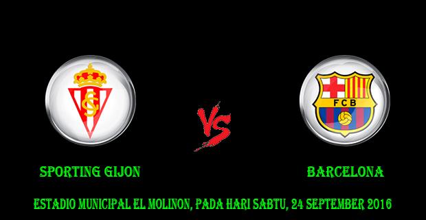 Prediksi Skor Sporting Gijon vs Barcelona 24 September 2016