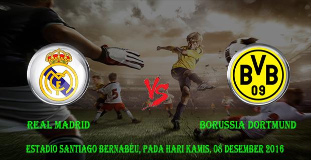Prediksi Skor Real Madrid vs Borussia Dortmund 08 Desember 2016